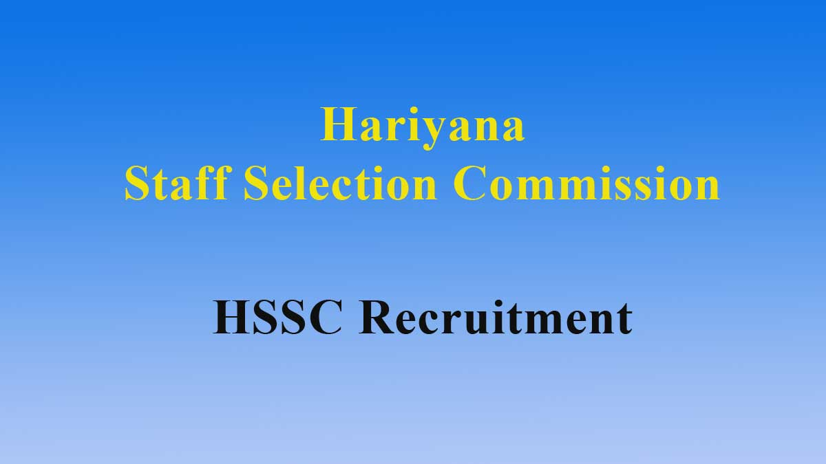 HSSC ITI Instructor Recruitment 2019 – 3206 Post Apply Online