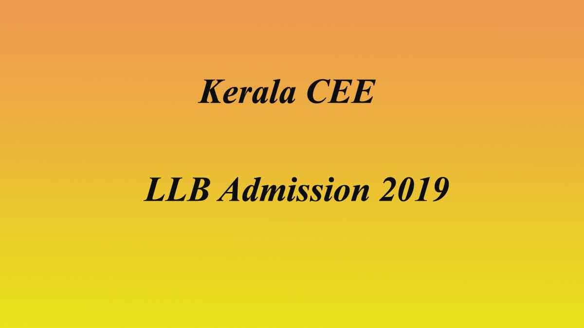 Kerala CEE LL.B Spot Allotment 2019 - 3 year LLB Admission