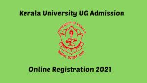 Kerala University Degree Admission